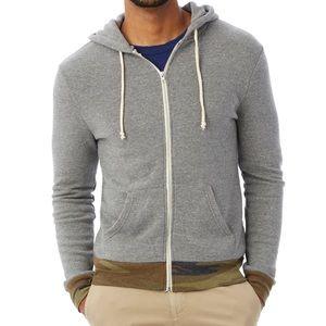 Alternative Apparel Grey Zip-up sweatshirt